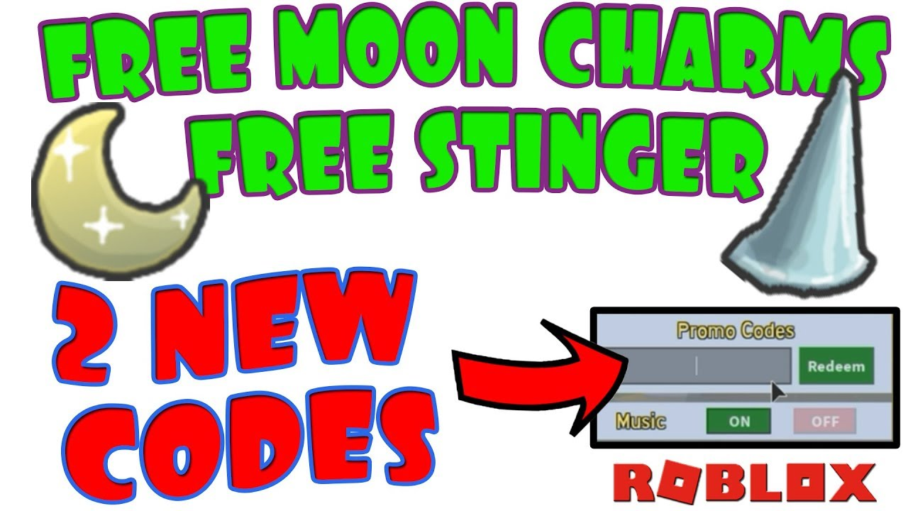 2 New Codes Free Moon Charms And Stinger Bee Swarm Simulator