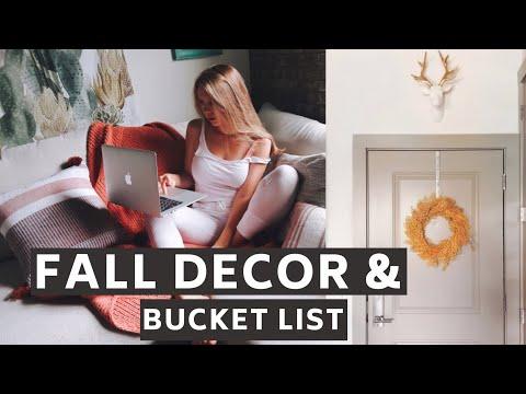 Make your House Cozy for Fall! Room Decor 2019 & Fall Bucket List I Julia Hunt