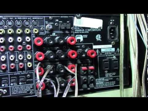 YAMAHA Receiver How to hook up home theater speakers wire on