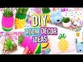 DIY ROOM DECOR IDEAS! Easy & Fun 5 Minute DIY's For Your Room! Summer Room Decor!