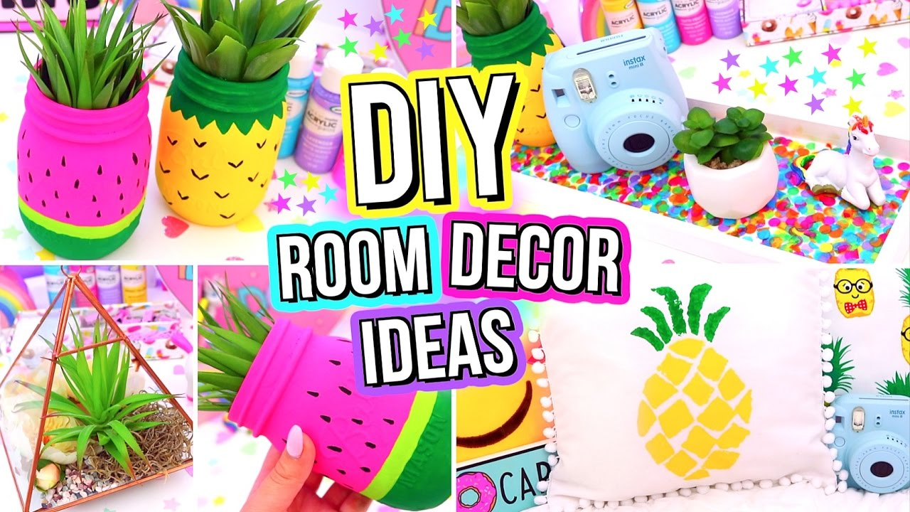 DIY ROOM DECOR IDEAS! Easy & Fun 5 Minute DIY's For Your ...