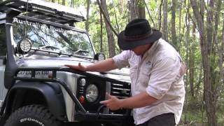 Landrover Defender Custom Bar Work: The Australian Bushman
