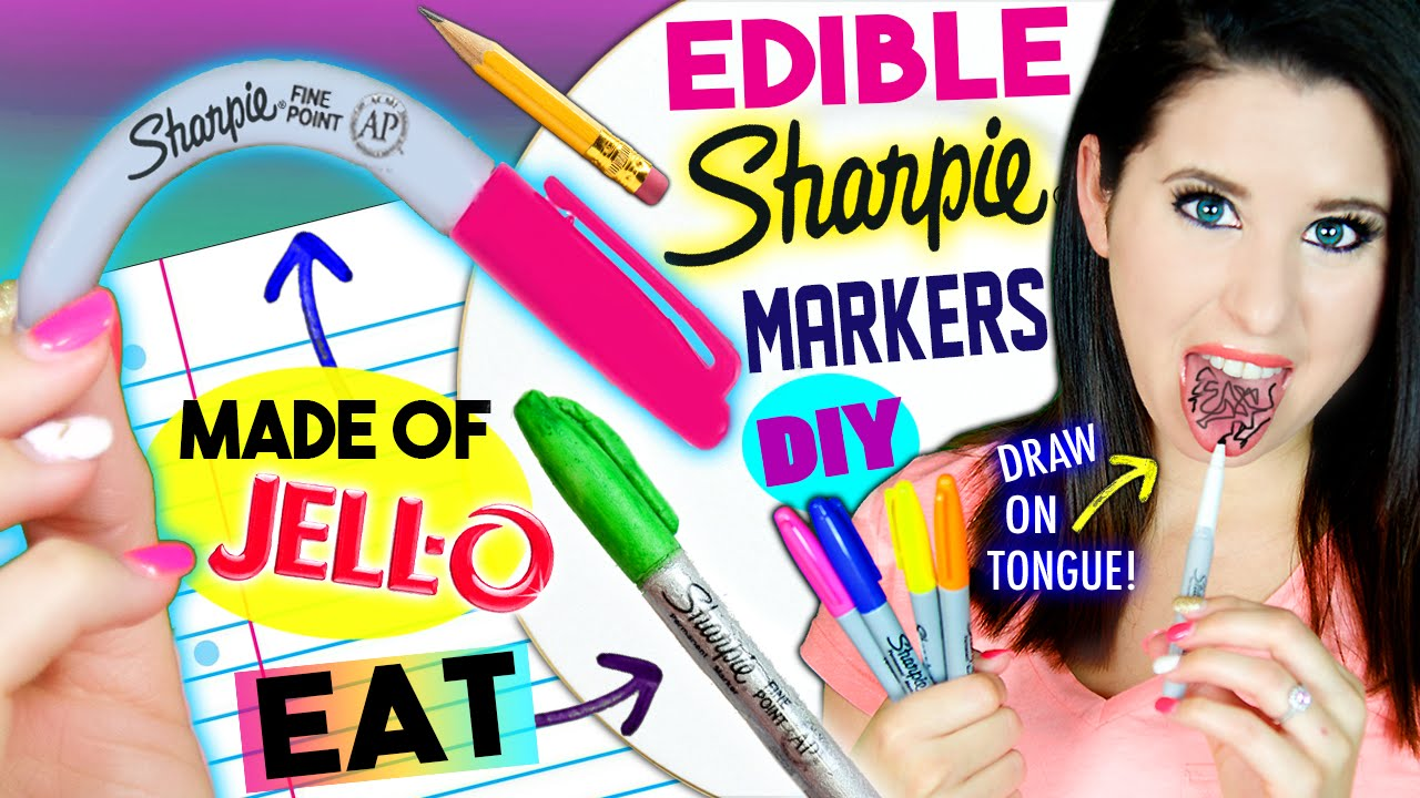 DIY EDIBLE Sharpie Markers | EAT Sharpies Whole | Draw On ...