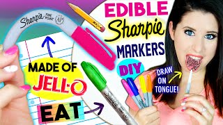 diy edible sharpie markers   eat sharpies whole   draw on tongue   eatable school supplies