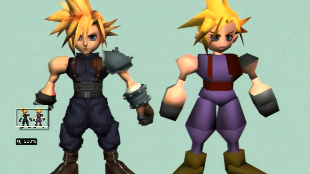final fantasy 7 remake characters comparison youtube