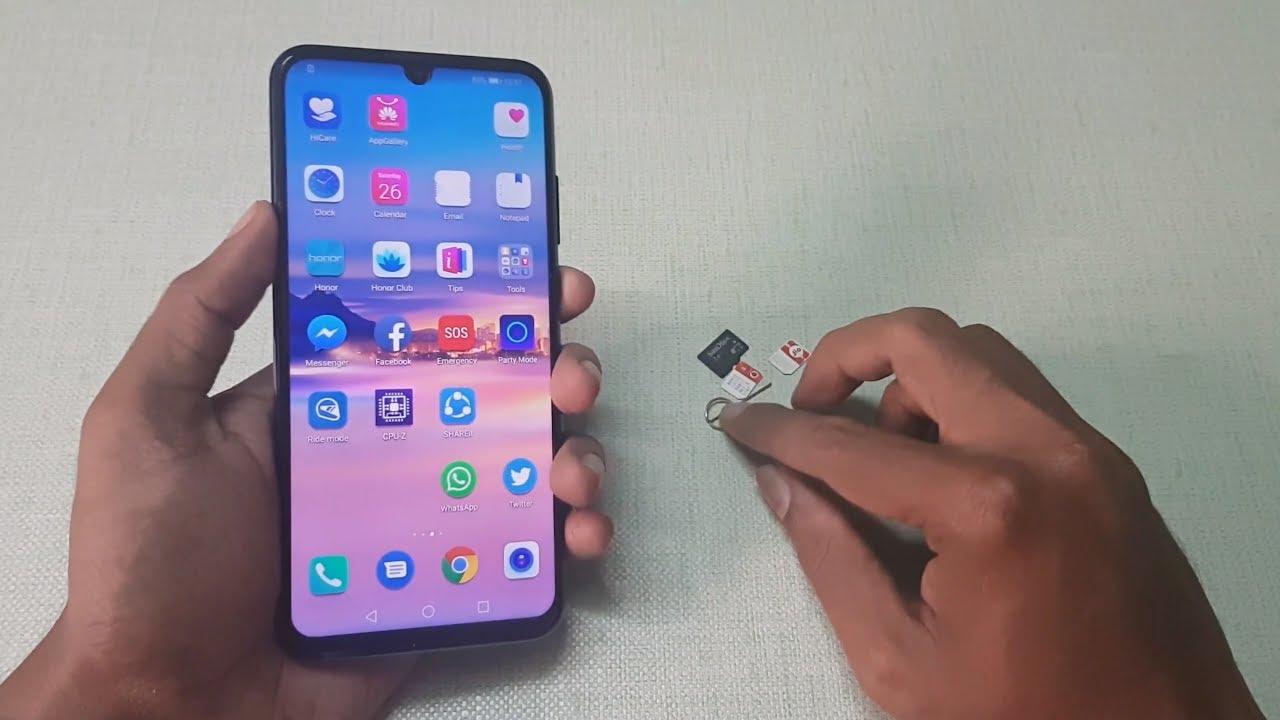 honor 10 carte sd How to Insert SIM & MicroSD Card into Honor 10 Lite   YouTube