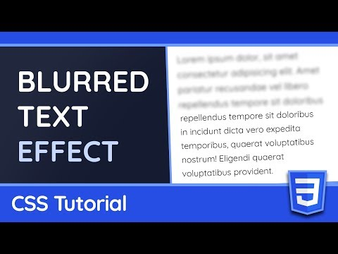 How to Blur Text (with Animations) - CSS Tutorial thumbnail