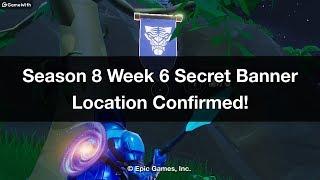 Fortnite - Temporada 8 Semana 6 Ubicación secreta del estandarte