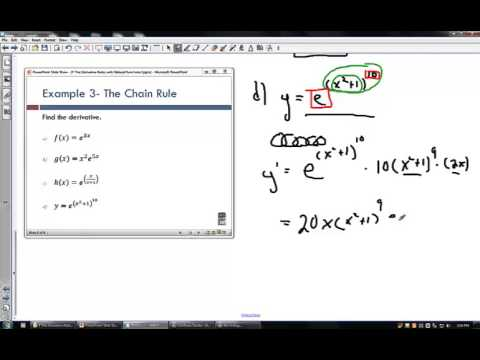 4 The Derivative Rules with Natural Functions I