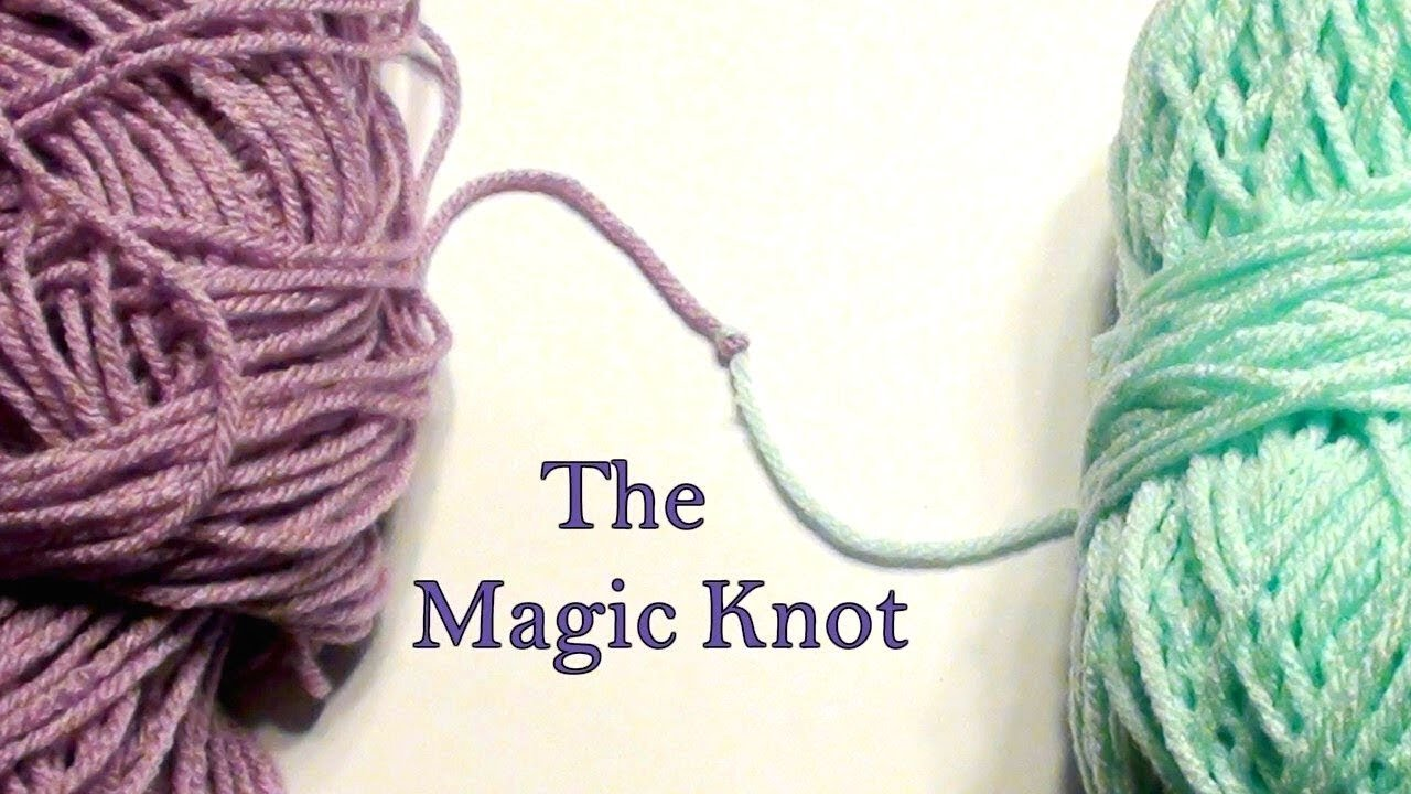 Knitting Joining Yarn Knot : Magic knot for joining yarn crochet jewel youtube