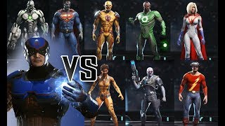 Atom VS Premiere Skins - All UNIQUE Intro Dialogues | INJUSTICE 2