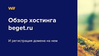 Видео обзор beget.ru и регистрация домена на нем