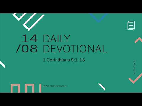 Daily Devotional with Sophie Spital // 1 Corinthians 9:1-18 Cover Image