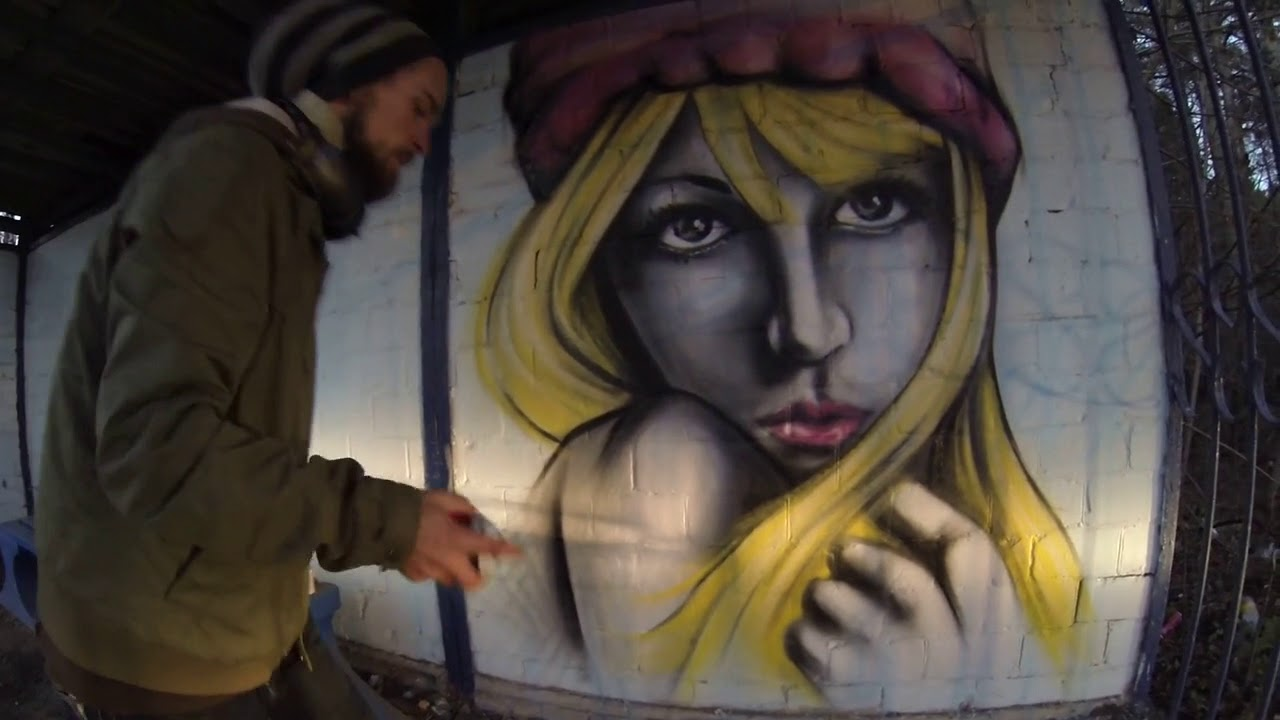 Victor Joker Girl On A Bus Stop Street Art Graffiti Youtube