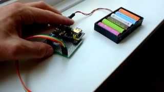 esp8266 hc sr04 mb102 power supply open garage door notifier