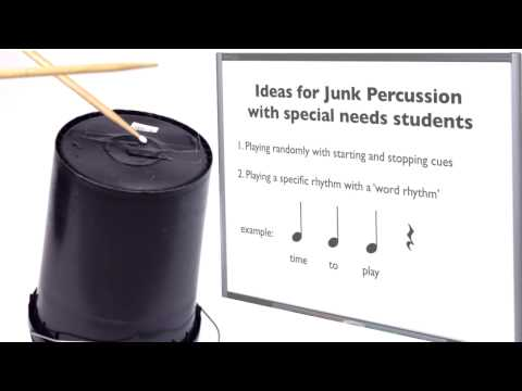 Teaching Junk Percussion Music for students with special needs