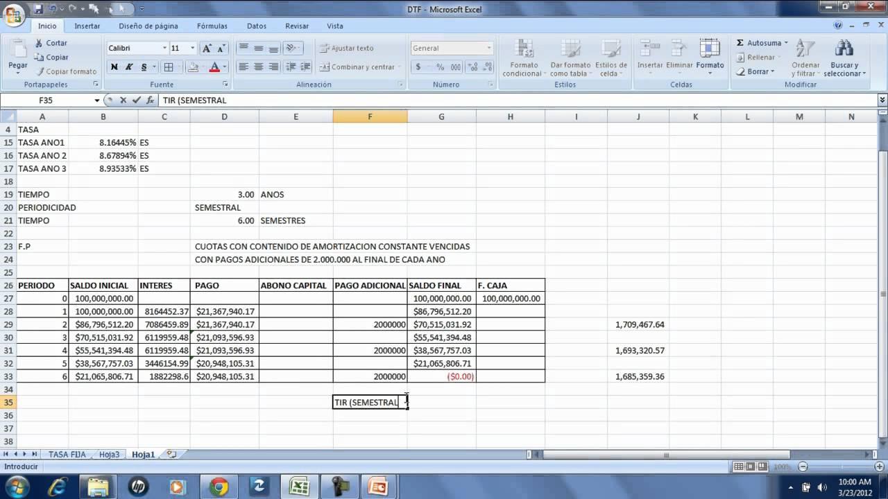 Curso de Valoracion de Proyectos en Excel - YouTube