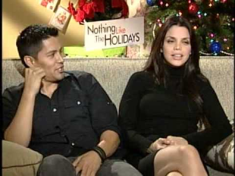 01 Jay Hernandez and Vanessa Ferlito Nothing Like the Holidays Press Junket