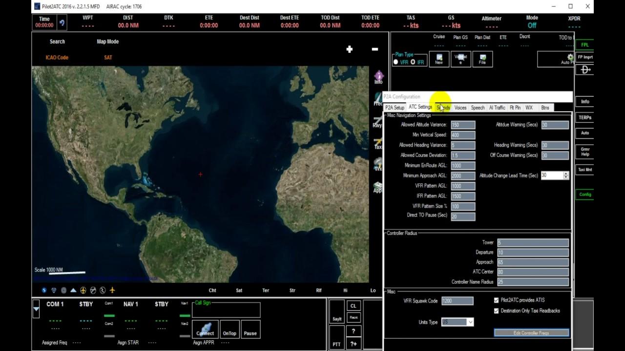 Pilot2ATC Quick Start - Configuration