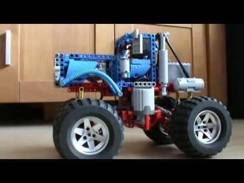 how to make a mini lego monster truck