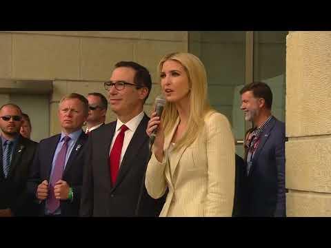 Ivanka Trump, Mnuchin ly open US embassy in Jerusalem