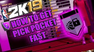 HOW TO GET PICK POCKET HALL OF FAME EASY & FAST - NBA 2K19