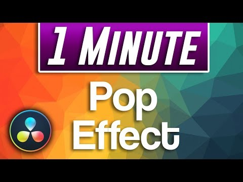Davinci Resolve : How to do ANIMATED Pop Effect