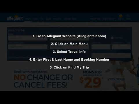 How to Manage Travel in Allegiant Airlines?