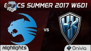 roc vs h2k highlights game 2 eu lcs summer 2017 roccat vs h2k gaming by onivia best of the world