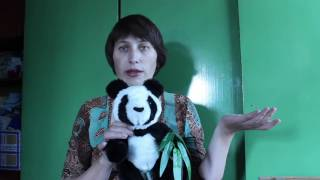 """Обзор набора для шитья игрушки """"Панда с бамбуком"""" от Мехомания"""