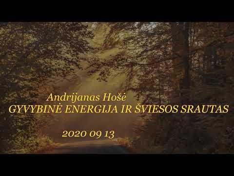 2020 09 13 Andrijanas Hošė: GYVYBINĖ ENERGIJA IR ŠVIESOS SRAUTAS