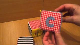 Детская игрушка видеообзор - Мягкие детские развивающие кубики