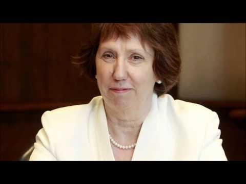 European Union Chief Catherine Ashton Visits Mohammed Morsi In Egypt