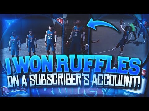 I WON RUFFLES ON MY SUBSCRIBERS ACCOUNT ON NBA 2K18! I GOT HIM UNLIMITED BOOST AND HIS PURE SHARP!