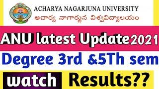 ANU Results Updates 2021//ANu 3rd &5th sem results/ANU latest Updates 2021//Degree results2021//