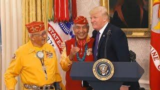Donald Trump llama 'Pocahontas' a una senadora nativa americana