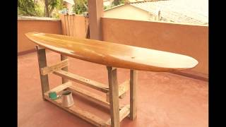 Chambered Wooden Surfboard Construction