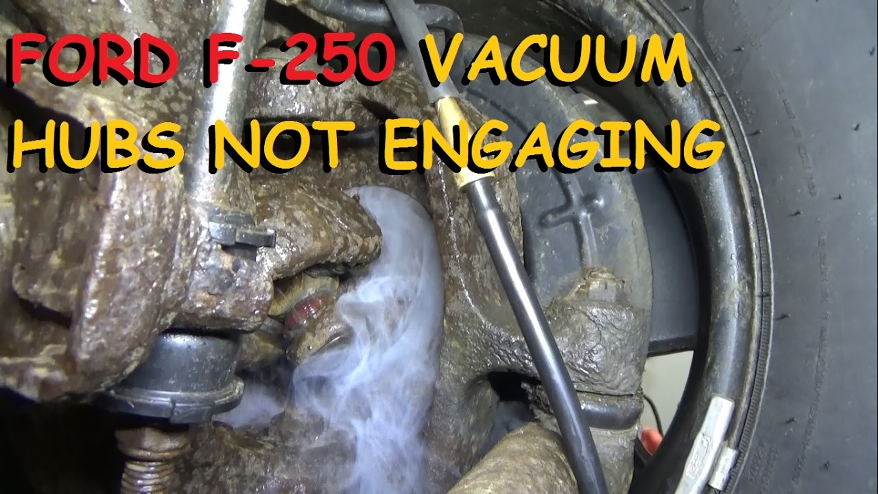 Ford F250 4x4 Vacuum Hubs Not Engaging Youtube. Youtube Premium. Ford. 2002 Ford F 150 Front Hub Diagram At Scoala.co