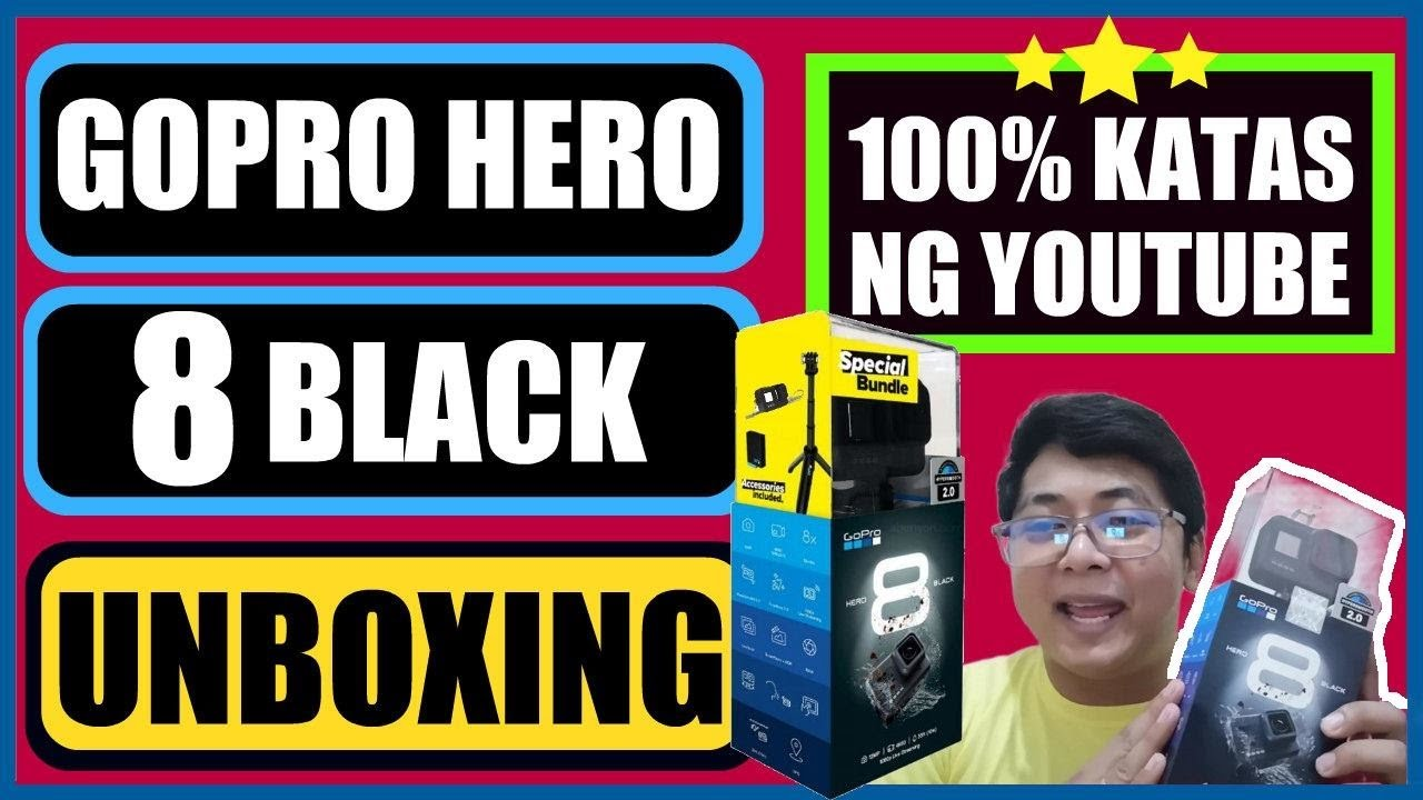 GOPRO HERO 8 BLACK UNBOXING | 100% KATAS NG YOUTUBE!