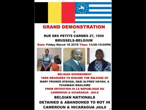 Breaking News!! Ambazonians In Belgium Prepare For Mami Water Protest on March, 16, 2018!