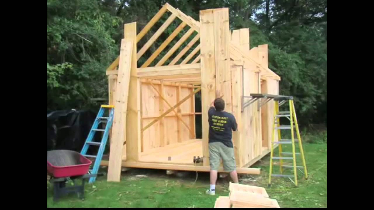 How To Build A Garden Shed U2022 Building A Shed U2022 How To Build A Shed Video U2022  DIY Yard Shed Build   YouTube