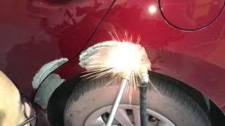 Hyundai Elantra Rear Fender Panel Beating Repair