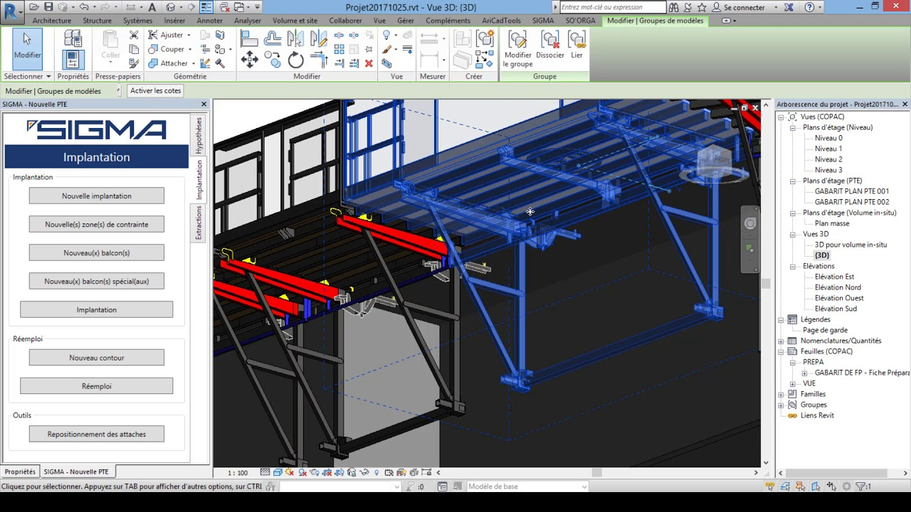 Building Layout Via Our Bim Methods And Equipment 3d Software