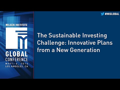 The Sustainable Investing Challenge: Innovative Plans from a New Generation