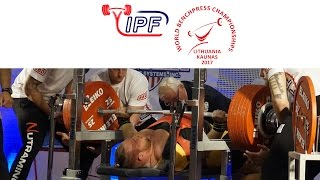 Open Men, 120 & 120+ kg - World Equipped Bench Press Championships 2017