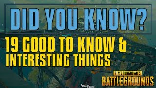 Did You Know? 19 Tips and Tricks | PUBG