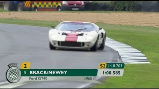 Kenny Brack interview on how he raced GT40 at the Goodwood Revival