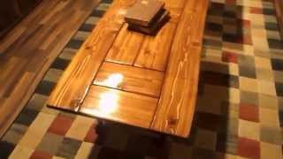 Cedar Plank Coffee Table And End Table