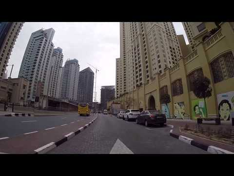 Dubai, UAE - Drive from Dubai Marina to Jumeirah Beach Road - HD Quality