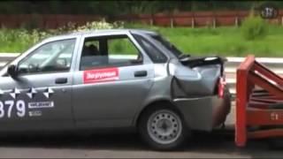 Crash Test Auto VAZ (LADA) Priora 2170 Задний Удар